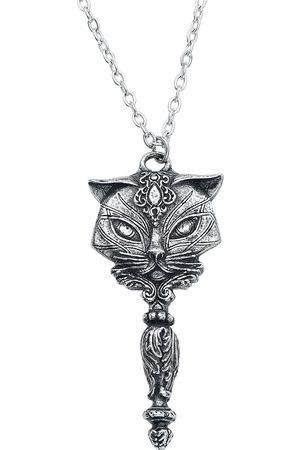 Alchemy Damen Halsketten - Sacred Cat Vanity Halskette silberfarben