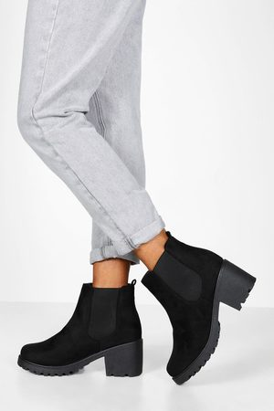 Boohoo Womens Robuste Chelsea-Boots In Weiter Passform - - 36