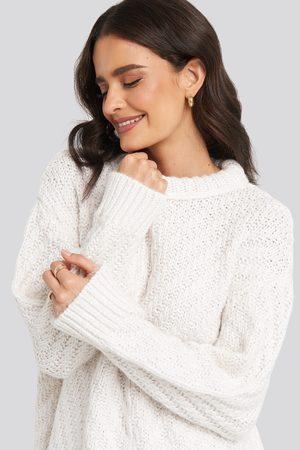 MANGO Mirror Sweater - White