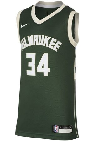 Nike Icon Edition Swingman Jersey (Milwaukee Bucks) NBA-Trikot für ältere Kinder