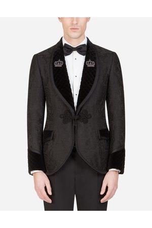 Dolce & Gabbana Smokingjacke aus jacquard mit patch