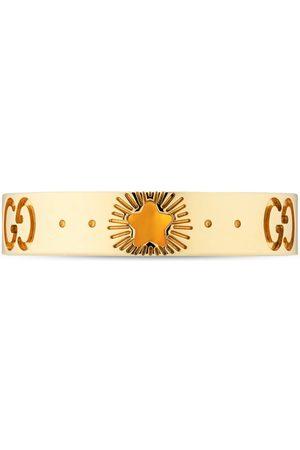 Gucci Icon Ring aus Gelbgold mit Sternen