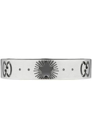 Gucci Icon Ring aus Weißgold mit Sternen