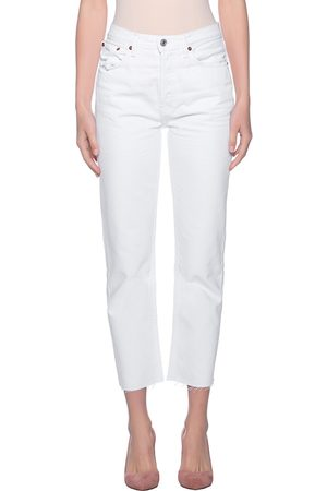 RE/DONE Damen Straight - High Rise Stovepipe White