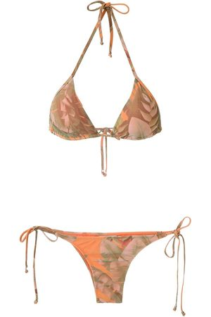 AMIR SLAMA Triangel-Bikini mit Print