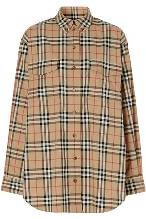 Burberry Oversized-Hemd mit Vintage-Check