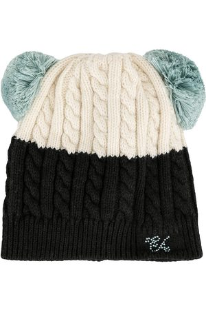 Emporio Armani Mädchen Hüte - 3943449A415 62010 LATTE/GRIGIO SCURO Natural (Veg)->Cotton