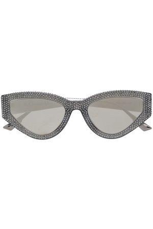 Dior Cat-Eye-Sonnenbrille mit Kristallen