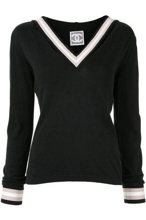 CHANEL Damen Pullover - Pullover mit Kontrastborte