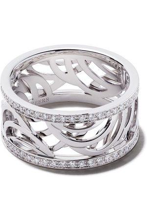De Beers 18kt 'Aria' Weißgoldring mit Diamanten
