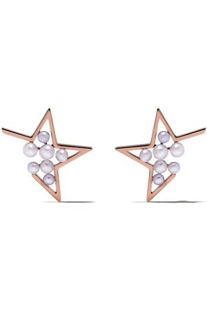 Tasaki 18kt 'Abstract Star' Rotgoldohrringe