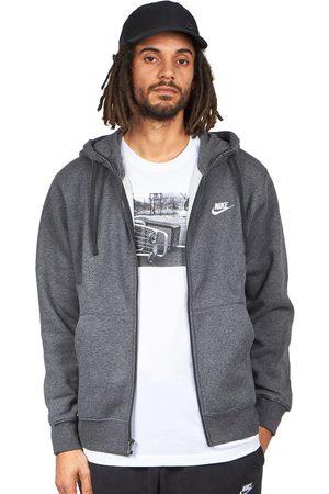 Nike Herren Sweatshirts - Club Full Zip Hoodie Brushed