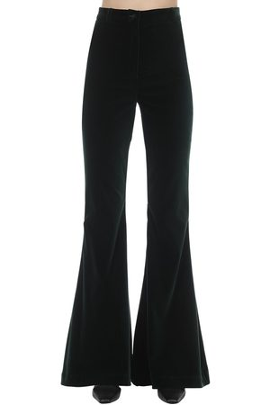 HEBE STUDIO Bianca Flared Velvet Pants