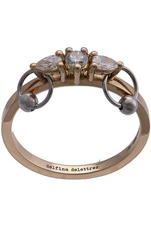 DELFINA DELETTREZ 18kt 'Two In One' Gelbgoldring mit Diamanten