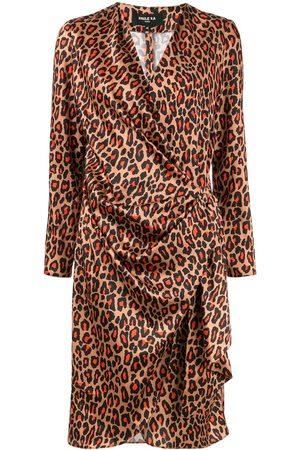 Paule Ka Damen Freizeitkleider - Wickelkleid mit Leoparden-Print