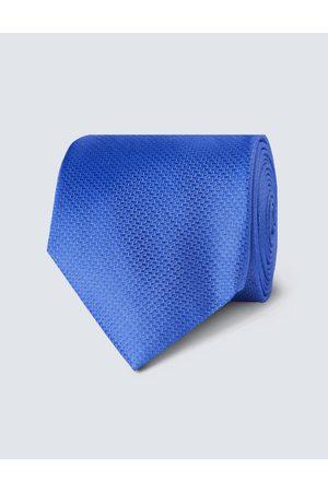 Hawes & Curtis Herren Krawatte | Seide Standardbreite Korbgitter Kornblumenblau