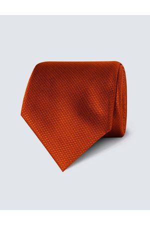 Hawes & Curtis Herren Krawatte | Seide Standardbreite Korbgitter Rostrot