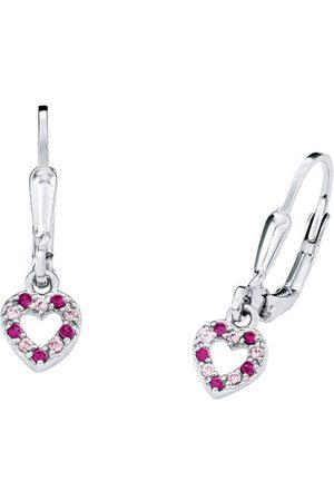 Prinzessin Lillifee Ohrring für Mädchen Herzen Sterling 925 Zirkonia rosa pink, , keine Angabe