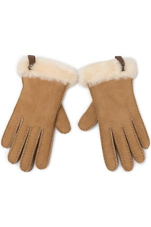 UGG W Shorty Glove W Leather Trim 17367 Chestnut
