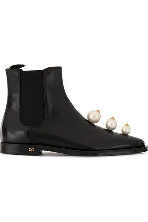 Dolce & Gabbana Chelsea-Boots mit Kunstperlen