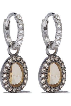 ANNOUSHKA Damen Ohrringe - 18kt Weiß -Hängeohrringe mit Diamanten