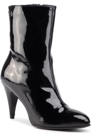 Tommy Hilfiger Elevated Patent Bootie FW0FW04674 Black BDS