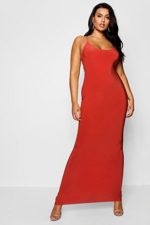 Boohoo Womens Plus Slinky Strappy Maxi Dress - - 42