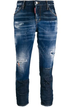 Dsquared2 Cropped-Jeans im Distressed-Look