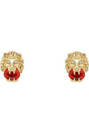 Gucci Uhren - Löwenkopf-Ohrringe aus Gelbgold