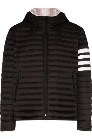 Thom Browne Gefütterte Jacke mit Logo-Streifen