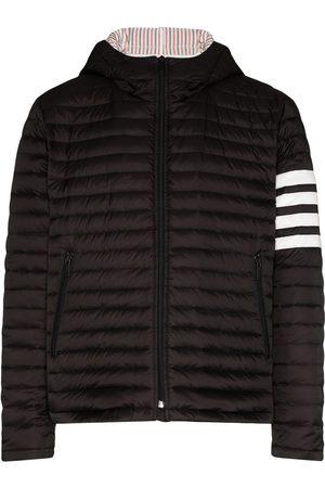 Thom Browne Herren Winterjacken - Gefütterte Jacke mit Logo-Streifen