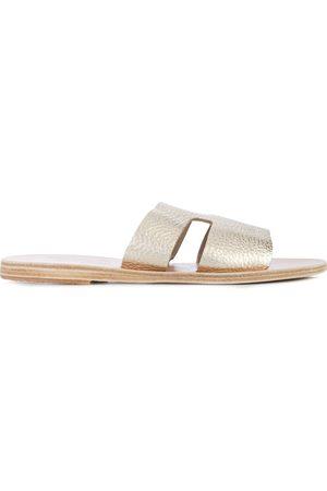 Ancient Greek Sandals Apteros' Metallic-Pantoletten