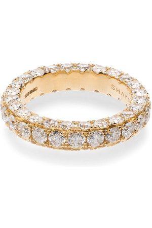 Shay 18kt Gelbgoldring mit weißen Diamanten