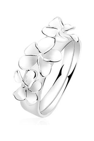Nenalina Ring Damenring Blume Floral Statement 925 , 54 mm
