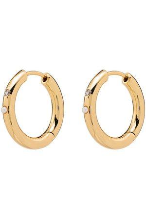 Anni Lu 18k 'Bling' vergoldete Ohrringe mit Perlen