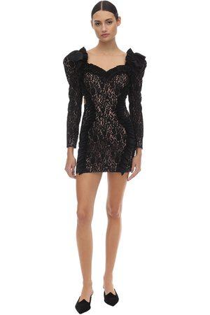 ULYANA SERGEENKO Ruffled Lace Mini Dress