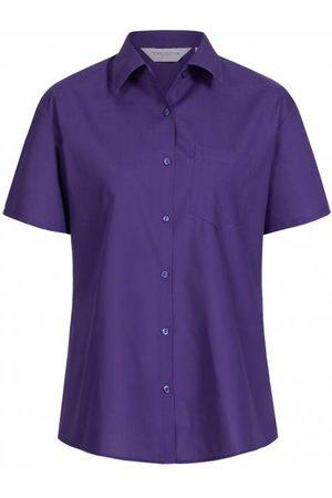 RUSSELL Short Sleeve Poly Cotton Poplin Damen Hemd 0R935F0-Purple