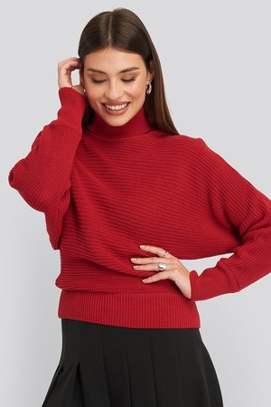 NA-KD Folded Knitted Sweater - Red