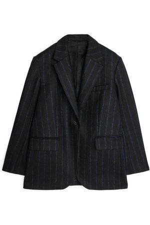 ARKET Pinstripe Melton Wool Blazer
