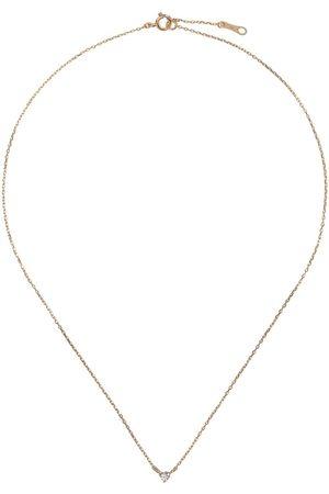 Mizuki Damen Halsketten - 14kt Goldhalskette mit einem Diamanten