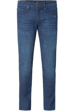 HUGO BOSS Stone Washed Tapered Fit Jeans
