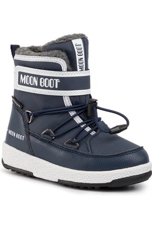 Moon Boot Jr Boy Boot Wp 34051600003 M Blue Navy/White
