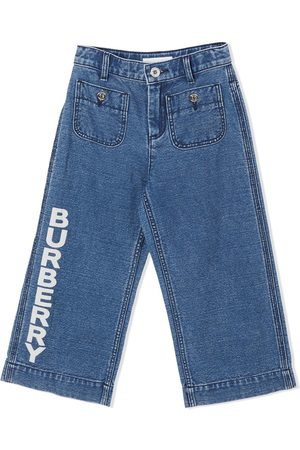 Burberry Jungen Cropped - Jeans mit Logo-Print