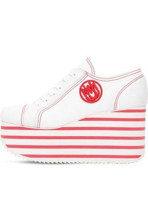 Miu Miu 100mm Cotton Platform Sneakers