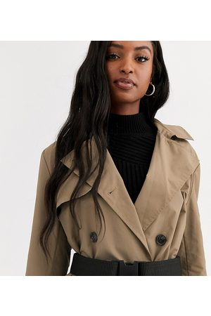 ASOS Damen Trenchcoats - ASOS DESIGN Tall – Trenchcoat mit Gürtel in Stone