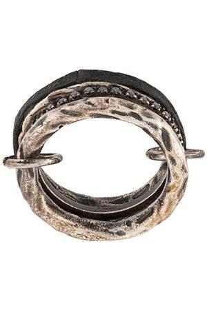 Guidi Ringe - Silberring mit schwarzen Diamanten