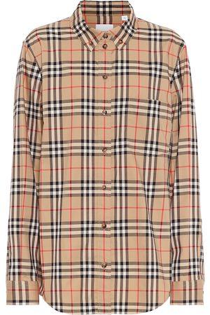 Burberry Kariertes Hemd aus Baumwollpopeline