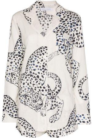 Desmond & Dempsey Damen Schlafanzüge - The Jag' Pyjama mit Print