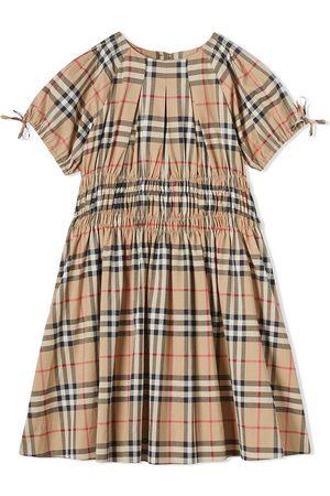 Burberry Gerafftes Kleid mit Vintage-Check