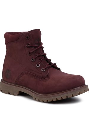 Timberland Waterville 6 In Waterproof Boot TB0A1R2TC601 Burgundy Nubuck